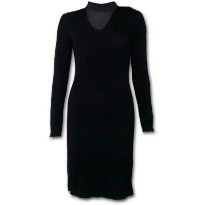 Spiral Gothic Elegance Neck Band Elegant Dress